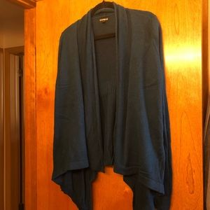 Teal cardigan from Express